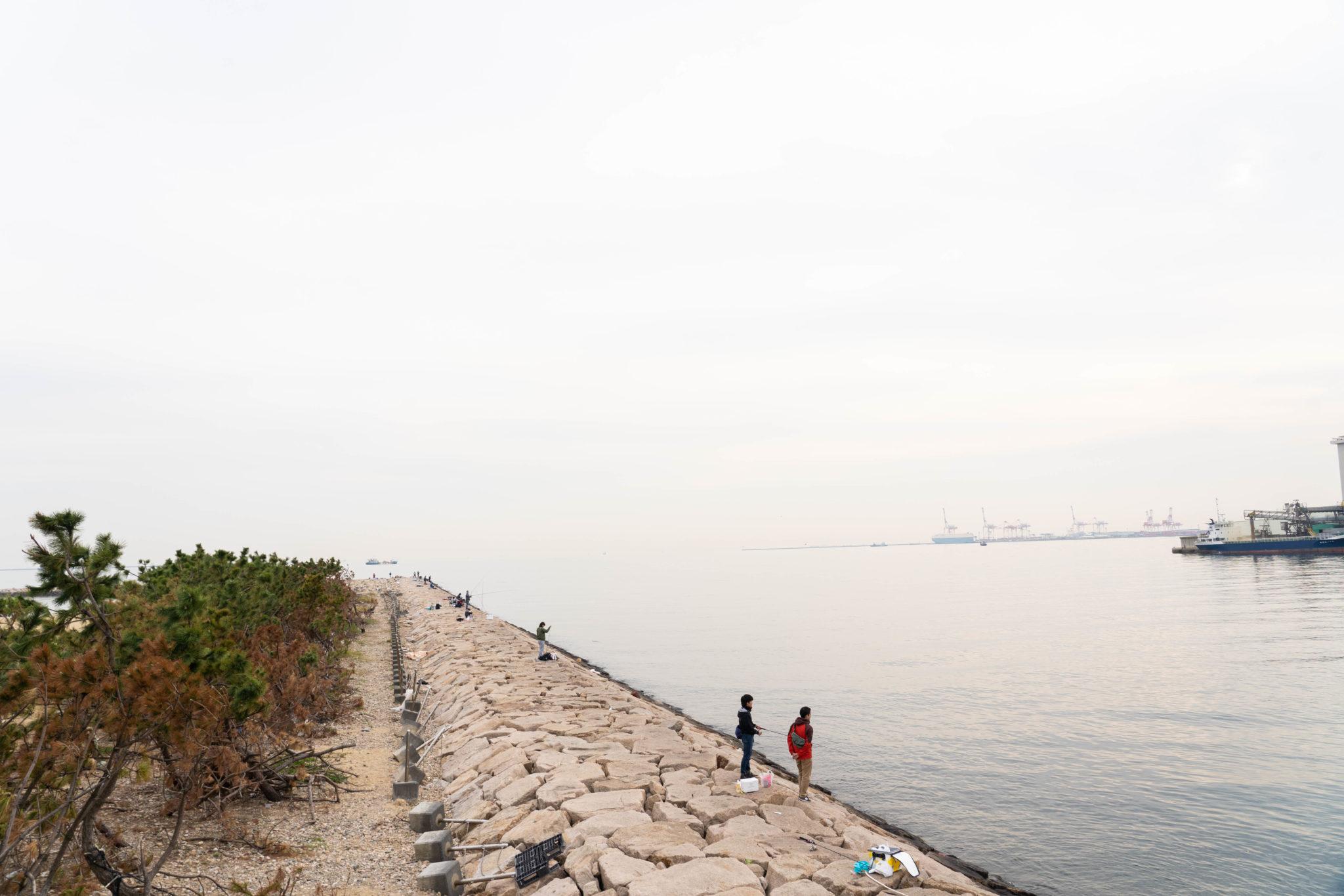 【台風後調査】南芦屋浜ベランダの釣りポイント・アクセス・設備(トイレ・駐車場)まとめ
